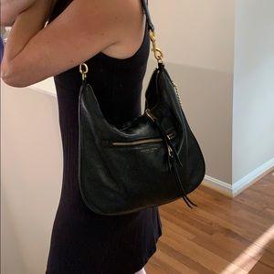 Marc Jacobs New York black hobo shoulder bag.